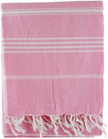 Rosa 100% algodón turco hammam Peshtemal toalla de baño playa yate ...