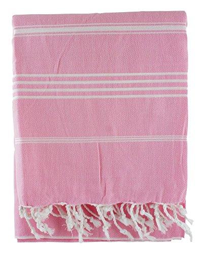 Rosa 100% algodón turco hammam Peshtemal toalla de baño playa yate gimnasio Yoga manta de