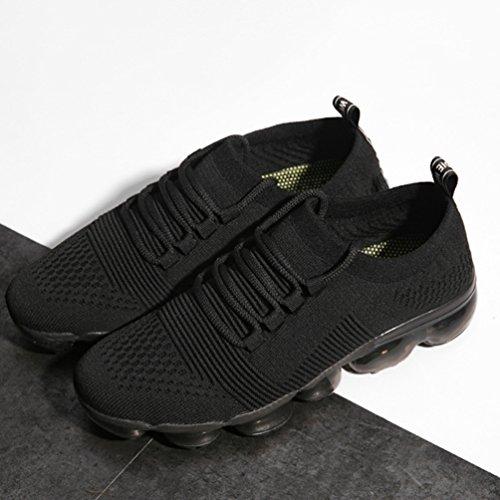 Pied Textile À De Respirant Noir Course Homme Coussin Sneaker Chaussure Running Jogging D'air 46 Élastique 39 ICwqggSn