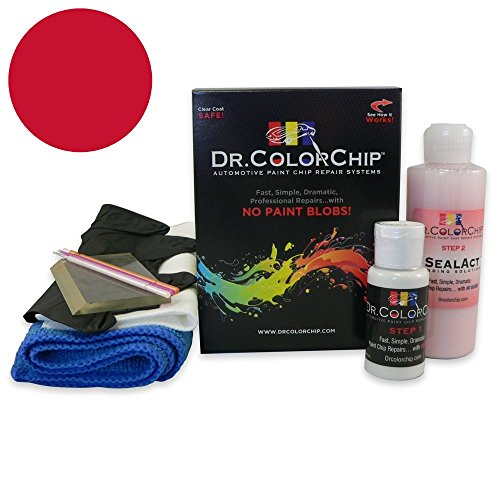 Dr. ColorChip Land-Rover Range Rover Automobile Paint - Firenze Red Metallic 868/CAH - Squirt-n-Squeegee Kit (Land Rover Firenze Red Touch Up Paint)