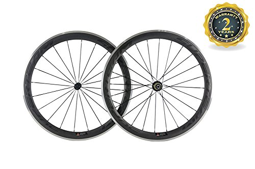 (Superteam 50mm Depth Clincher Rim with Alloy Brake Surface Matte Finish Road Wheelset)