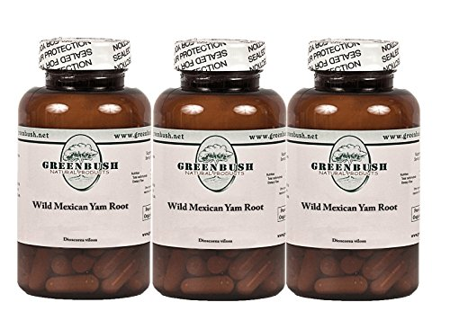 3 Pack Wild Yam Root 100 Vegetarian Capsules 575mg. Top Quality and Potency, No Additives. For Women's Reproductive Health, PMS, Cramps, Hot Flashes, Digestion, Cholesterol, Blood Sugar, Inflammation Review