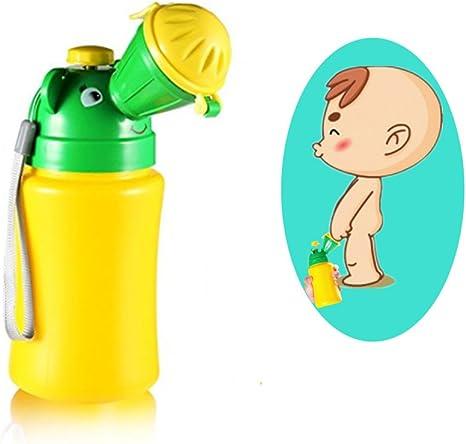 Novedad port/átil beb/é ni/ño Orinal Potty Toddler Acampar al ba/ño formaci/ón Coche Viajes Inodoro para ni/ños Amarillo