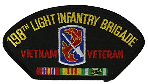 198th Light Infantry Brigade Vietnam Veteran Biker Patch 5 1/2 inch - 198th Light