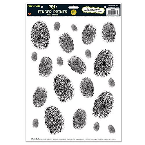 Beistle Fingerprints Place Sheet 17 Inch
