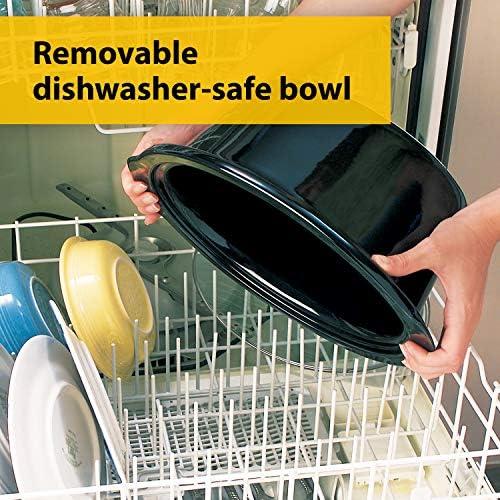 Crock-Pot Slow Cooker | Removable Easy-Clean Ceramic Bowl | 3.7 L (3-4 People) | Black | [CSC078]