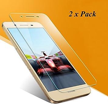 2x Huawei P8 Lite Smart Pantalla [No para Huawei P8 Lite], EJBOTH Vidrio templado Protector de pantalla teléfono Proyectar película protectora Cristal ...