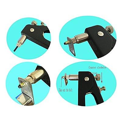 Muzata Hand Rivet Tool Nut Setter Kit,Heavy Duty Thread Blind Riveting Tools,Wrench Nut Sert,5pc Metric Mandrels and 100pc M3/M4/M5/M6/M8 Rivnuts,Rugged Carrying Case RK01: Industrial & Scientific