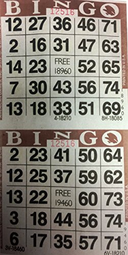 3000 Paper Bingo Cards-2 cards per sheet--1500 sheets [CHOOSE COLOR BELOW] (Paper Bingo Cards)