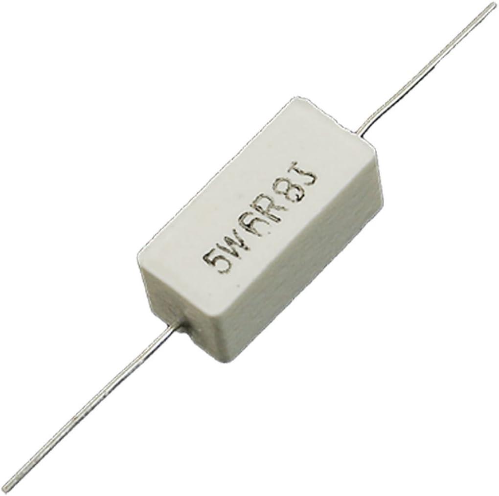 10pcS 5W Cement Resistor Ciment Resistance 1 Ω 8 Ω ohm