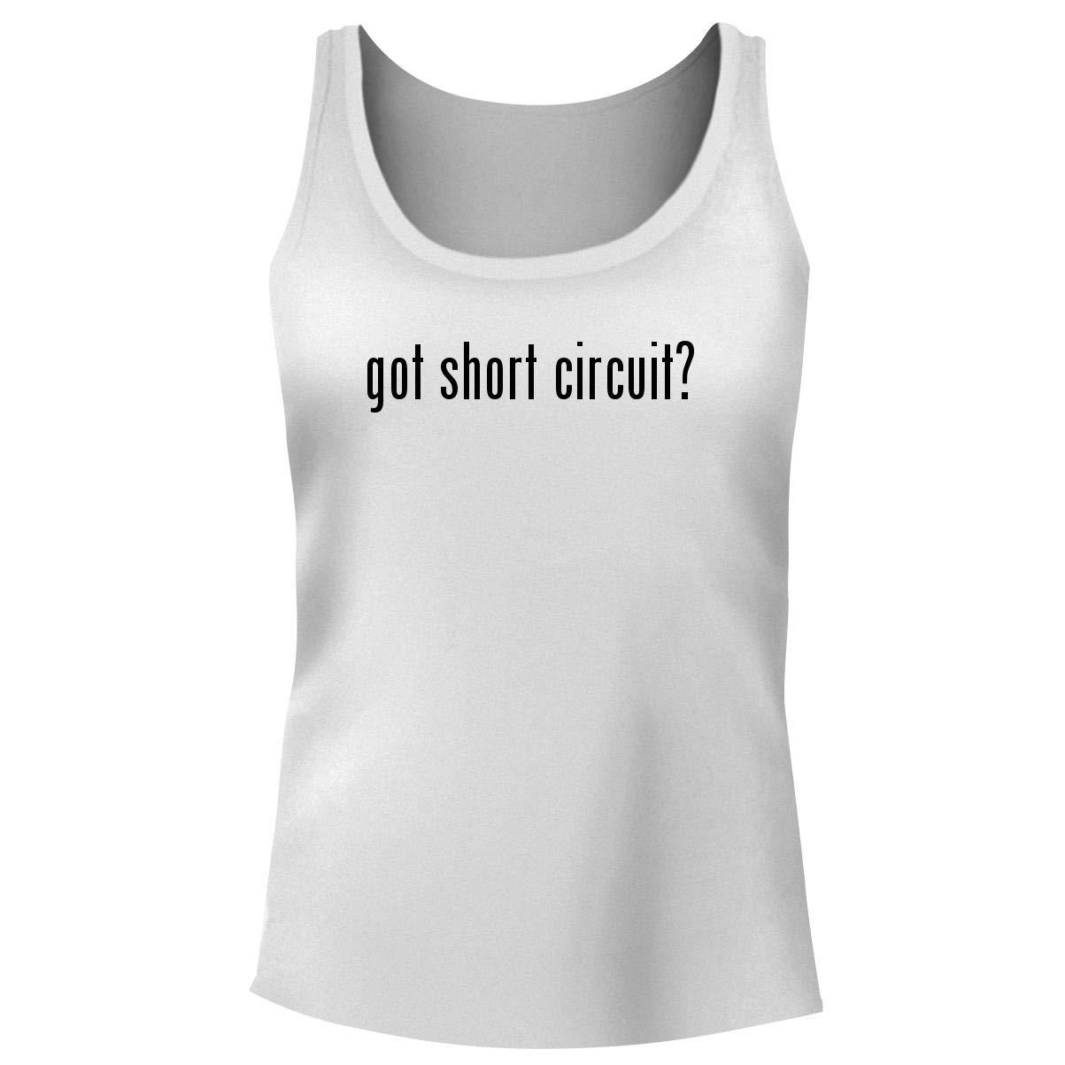 4b848dddb8f79 Amazon.com  One Legging it Around got Short Circuit  - Women s Funny Soft  Tank Top  Clothing
