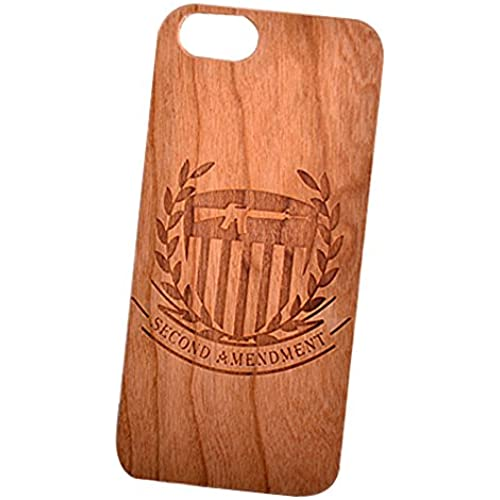 Second Amendment Gun Engraved Cherry Wood Cover for iPhone and Samsung phones - Samsung Galaxy s7 Edge Sales