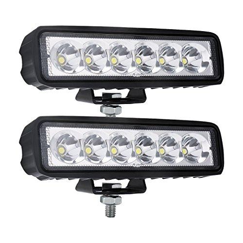 Spot Light Bar 18W Led Fog Lights Waterproof Off Road Work light for SUV ATV Boats Cars Trucks 2PCS
