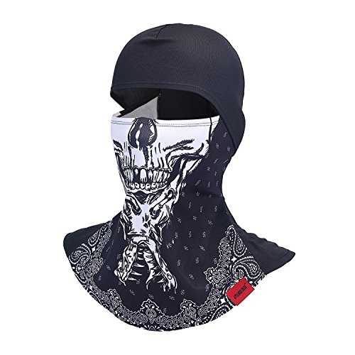 Skull Balaclava Motorcycle Full Face Mask Breathable Helmet Liner Multipurpose Outdoor Sports Wind Proof Dust Head Hood