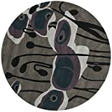 Safavieh SOH853A Soho Collection Handmade New Zealand Wool Round Area Rug, 6-Feet in Diameter, Grey and Blue Picture