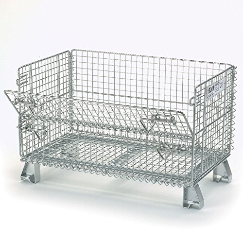 Nashville Wire Folding Wire Container GJR5, 32x20x21, 1000 Lb. Capacity ()
