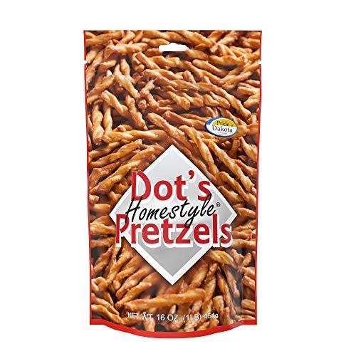 Dot's Homestyle Pretzels 1 lb. Bag (3 Bags) 16 oz. Seasoned Pretzel Snack Sticks (Packaging May Vary)