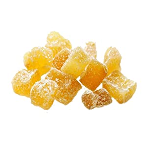 Amrita Candied Dried Pineapple Diced 2 lb - Packed Fresh in Resealable Bulk Bags - Non GMO - Candied Pineapple For Fruitcake - Dried Pineapple Chunks