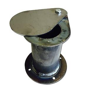 "UDS Ugly Drum Lid Exhaust 2"" Teardrop Flanged Vent Damper Builder Part"