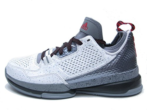 new photos fb652 ba214 adidas Mens D Lillard WhiteGreyScarlet Athletic Shoe