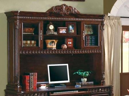 Coaster 800801H Union Hill Computer Hutch In Rich Brown by by Coaster Home Furnishings