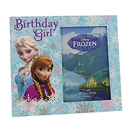 Amazon.com: Official Disney Frozen Photo Frame Elsa & Anna Birthday ...