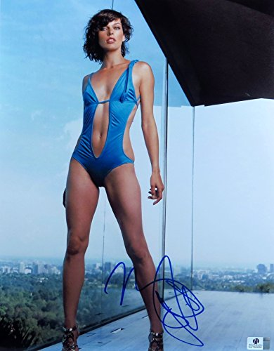 Milla Jovovich Signed Autographed 11X14 Photo Gorgeous Sexy Swimsuit GV793690