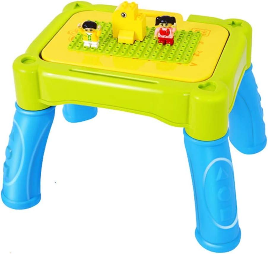 Juegos de mesas y sillas Mesa para Niños Mesa De Juego De Pintura De Rompecabezas Mesa De Juego Mesa De Estudio Multifunción (Color : Green): Amazon.es: Hogar