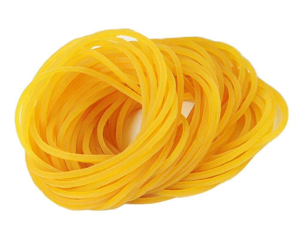 500PCS Durable Elastic Stretchable Bands Yellow Rubber Bands Bank Paper Bills Money Sturdy General Rubber Bands for Home Bank and Office Use