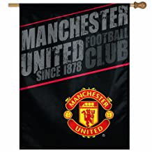 Manchester United Football Club 27-by-37 inch Vertical Flag
