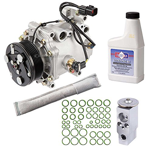 (New AC Compressor & Clutch With Complete A/C Repair Kit For Mitsubishi Eclipse - BuyAutoParts 60-80342RK New)
