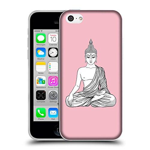 GoGoMobile Coque de Protection TPU Silicone Case pour // Q07720630 Bouddha 8 Rose // Apple iPhone 5C