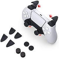 TUTUO Joystick Tapas Protectoras para Mando PS4, L2 R2 de Repuesto Botones Trigger Grips Extender, 2 Pares…