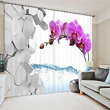 Heimtextilien Bad Bettwaren Waple Vorhänge 3d Swan Blume