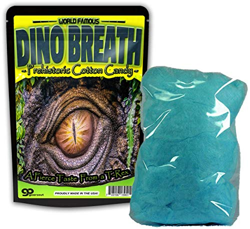 GearsOut Dino Breath Cotton Candy Gluten Free Blue Candy Coo