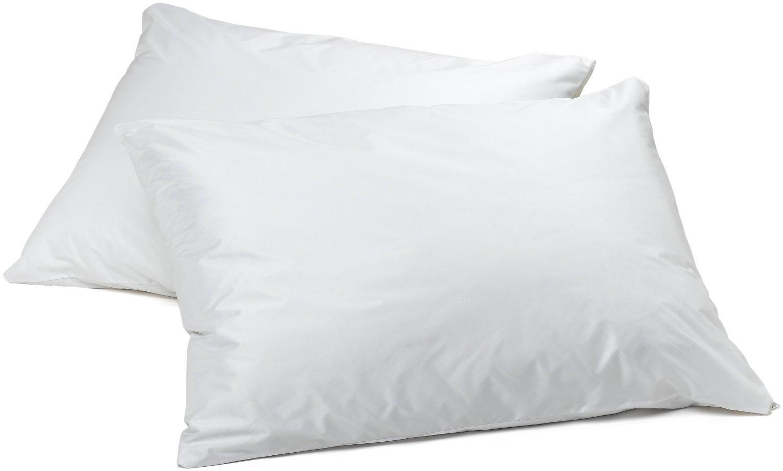 Premium Waterproof Vinyl Pillow Protector with Zipper - 2 PK BELLA KLINE DESIGN 4335361160
