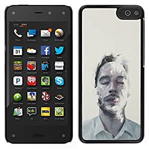 Stuss Case / Funda Carcasa protectora - Hombre Retrato Cara Mist Arte Ojos Cerrados - Amazon Fire Phone