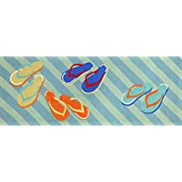 Area Rugs - Colorful Flip Flops Rug - 27 X 72 Runner - Indoor Outdoor Rug - Hand Tufted Rug