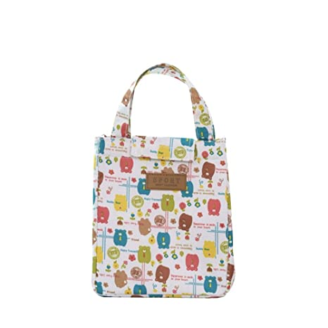 303f1f5a5348 Amazon.com: Pool- Lunch Box Cute Animal Thermal Insulated Tote ...