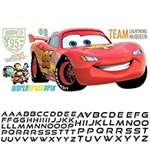 RoomMates RMK1771GM Disney Cars 2 Lightening Peel and Stick Giant Wall Decal with Personalization