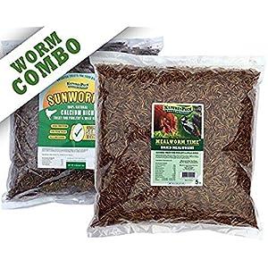 NaturesPeck Worm Combo - 10 lbs (5lbs Mealworms + 5lbs Sunworms) 106
