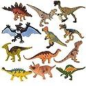 子供のための教育用プラスチック盛り合わせの恐竜のおもちゃフィギュア - 12パック、#15
