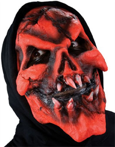 Reel FX Flaming Red Skull Theater Make Up Costume Mask -