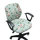 Jiyaru Rotating Armchair Slipcover Removable Stretch Computer Office Chair Cover #4 (Only Cover)