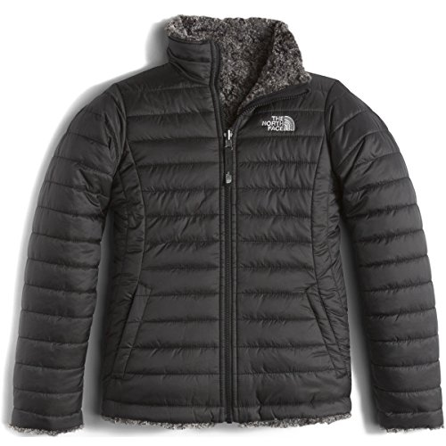 The North Face Kids Girl's Reversible Mossbud Swirl Jacket (Little Kids/Big Kids) TNF Black/TNF Black Heather (Prior Season) Medium (North Face Best Price)