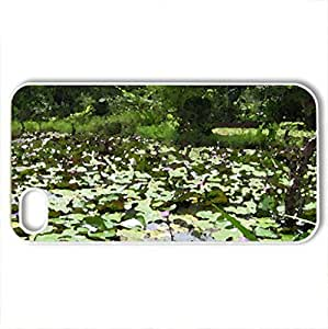 Beautiful lotus - Case Cover for iPhone 4 and 4s (Lakes Series, Watercolor style, White)