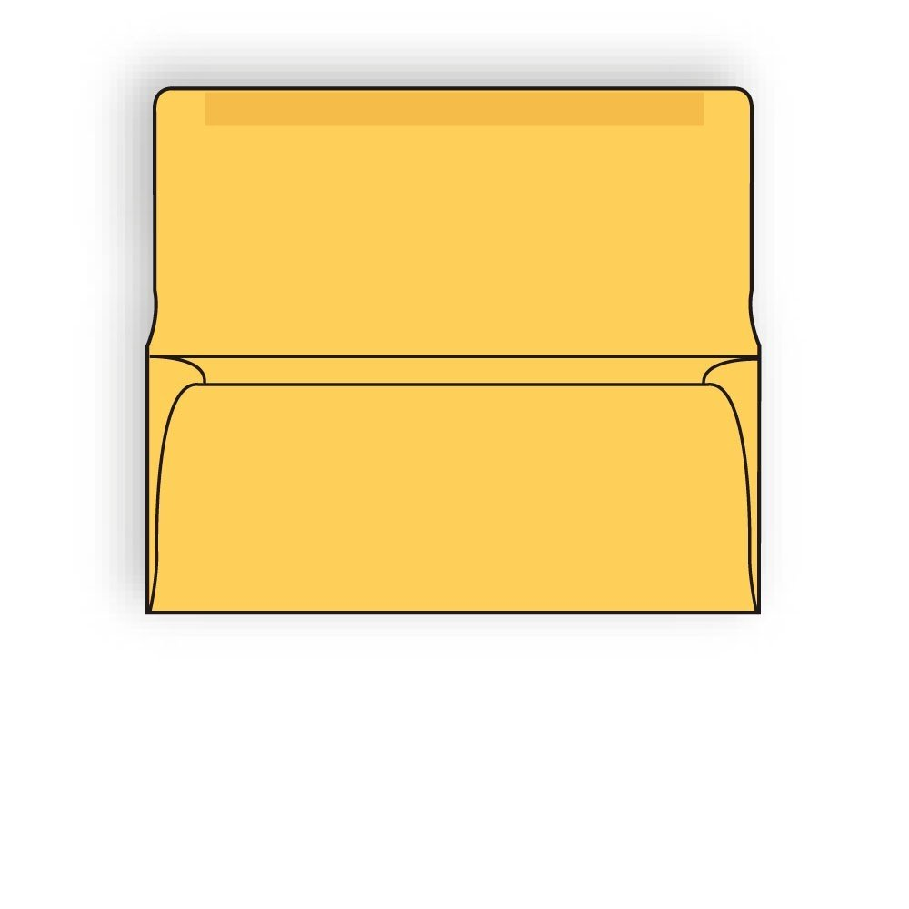 #9 Collection/Remittance Envelopes 3-7/8'' x 8-7/8'' 24# Recycled Goldenrod Pastel, Open Side, Flaps Extended (Box of 500)