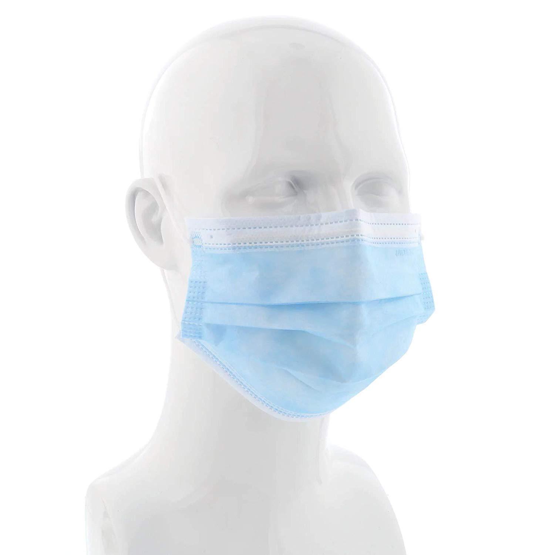 1 Mascarillas desechables3 Capas Máscara a prueba de polvo Funda protectora facial Máscaras Set Antipolvo Quirúrgico Médico