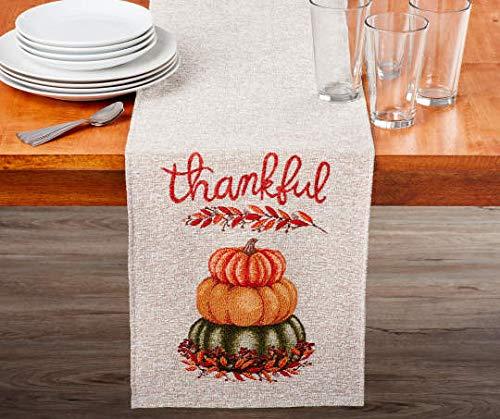 Autumn Radiance Thankful Pumpkin Table Runner, (13