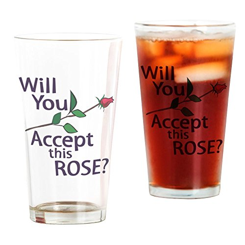 CafePress Will You Accept This Rose Pint Glass, 16 oz. Drinking -